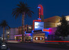 State Theater, Woodland, CA (allentimothy1947) Tags: califonia marquee state woodland yolocounty blue bluehour buildings cars flaring lights mainstreet modern neon palmtree people red theater statetheater car