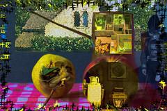 Naturaleza muerta habitada (seguicollar) Tags: naturalezasmuertas casas piano música habitaciones pera manzana interiores imagencreativa photomanipulación art arte artecreativo artedigital virginiaseguí surreal surrealismo colourama
