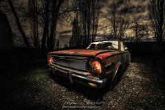 Gang Car (tsanchezruiz) Tags: nightshot nightphotography nightscape night fotografíanocturna coche car abandoned abandonado ruins longexposure landscape lightpainting spain españa clouds nubes hierba sky cielo old viejo paisaje