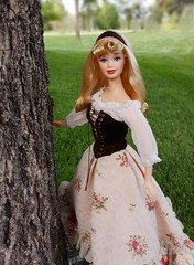 Once Upon a Dream (ozthegreatandpowerful) Tags: disney limited edition designer doll store mattel sleeping beauty aurora briar rose custom ooak floral dress hair
