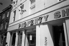 Property (bigalid) Tags: film 35mm olympus may 2018 tripaf51 kentmere 400iso bw dumfries sign