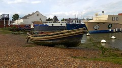 Down on Ferry Quay. Woodbridge. 15 06 2018 (pnb511) Tags: suffolk rurallandscape riverside tidal eastanglia riverdeben masts reflections sunshine mud dock boats water quay
