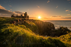 Dawn at New Slains Castle (GenerationX) Tags: aberdeenshire barr canon6d neil newslainscastle northsea scotland scottish cliffs clouds dawn flowers grass landscape morning northeast rays sea seapinks sky sun sunrise water crudenbay unitedkingdom gb