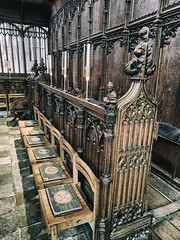 Stalls (ancientlives) Tags: winchester cathedral winchestercathedral church england uk europe christian choir choirstalls stalls medieval 14thcentury history carving art monday june 2018 spring travel trips hampshire