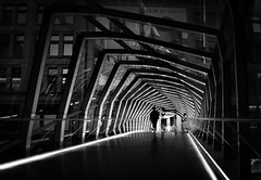 Pedway Bridge .... Eaton Centre .... Toronto, Ontario (Greg's Southern Ontario (catching Up Slowly)) Tags: blackandwhitephotography torontoist eatoncentre walkway pedestrianbridge shadowsandlight nikond3200 iamnikon nikoncamera nikon
