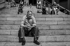 Steps (Leanne Boulton) Tags: people urban street candid portrait streetphotography candidstreetphotography candidportrait streetportrait streetlife eyecontact candideyecontact closeup old elderly man male face eyes look emotion mood feeling sitting steps stairs stairway summer sunshine tone texture detail depthoffield bokeh naturallight outdoor light shade shadow city scene human life living humanity society culture lifestyle canon canon5d 5dmkiii 35mm ef2470mmf28liiusm black white blackwhite bw mono blackandwhite monochrome glasgow scotland uk