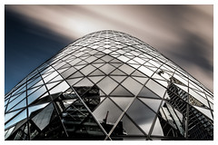 Gherkin London (mariolka3) Tags: geometric color nicecapture walkaround city gherkin tripod longexposure nikkor2470 nikon filters 10stops dynamic cloudsmovement clouds sky greatbritain gb uk london modernarchitecture building architecture