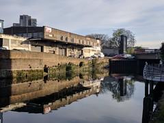 IMG_20180503_073317 (mattbuck4950) Tags: england unitedkingdom europe water reflections canals photosbymatt may cameramotorolanexus6 2018 limehousecut londonboroughoftowerhamlets gbr