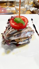 Anchovies with red onions and tomato (pierodmr) Tags: anchovies alici fish bluefish italiandish vegetarian healthy dietetic