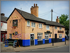 Whittle on the Squirrel.............. (Jason 87030) Tags: pub frankwhittle 2017 2018 may rugby town churchstreet building architecture beer celebration event history pink