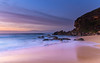 Rocky Sunrise Seascape (Merrillie) Tags: daybreak sunrise cloudy australia nsw centralcoast clouds sea newsouthwales rocks earlymorning morning water landscape ocean nature sky waterscape coastal seascape outdoors killcarebeach dawn coast killcare waves