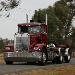 Cold & Wet Noses ~ KENWORTH (1/4) (Jungle Jack Movements (ferroequinologist)) Tags: four cold wet kenworth prime movers benalla winton crawling hume truck show festival vic victoria australia hp horsepower gear oil haul haulage freight cabover trucker drive transport carry delivery bulk lorry hgv wagon road highway nose semi trailer deliver cargo interstate articulated vehicle load freighter ship move roll motor engine power teamster tractor mover diesel injected driver cab cabin loud rumble beast hood fast brake wheel exhaust double grunt classic historic
