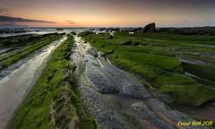 Green Dragon III. (Ernest Bech) Tags: euskadi bilbao barrica vizcaya paisvasco mar sea platja playa rocks roques sunset ocaso puestadesol landscape longexposure llargaexposició llums lights