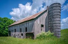 Old Pickaway Barn (Bob G. Bell) Tags: barn silo abandoned pickaway wv westvirginia monroe bobbell clouds weather xm1