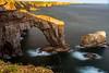 The green bridge of Wales (absynth100) Tags: water sea seascape landscape natural light wales waves rocks cliffs grass view shoreline shore bay idyllic headland coast uk pembrokeshire