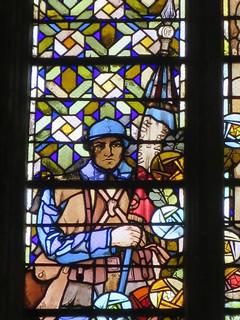 Vitrail Sainte Thérèse (1931-1932), Georges Bourgeot - Basilique de Saint-Quentin (02)