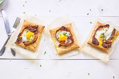Puff pastry egg tarts (thetortillachannel) Tags: pastry eggs recipe cooking food video savory tasty delicious breakfast brunch lunch festive