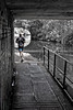 Running and Water Under the Bridge (tatzlum.photo) Tags: fitness canal bridge blackandwhite selectivecolour camden street monochrome running regentscanal runner amareur sport 50mm london