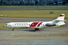 F-GDJU    Sud Aviation SE.210 Caravelle 10B3 [183] (Europe Aero Service) Heathrow~G 15/09/1983 (raybarber2) Tags: 183 airliner airportdata alpechacollection approachtodo brokenup cn183 cancelled egll fgdju flickr frenchcivil slide