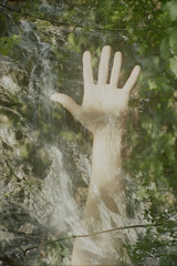 L'essere animale: II (Silvia Kuro) Tags: film primitive primitivism primitivo primeval primordial hand mano nature natura pagan water waterfall streams green woods wood forest wild wilderness spiritual analog