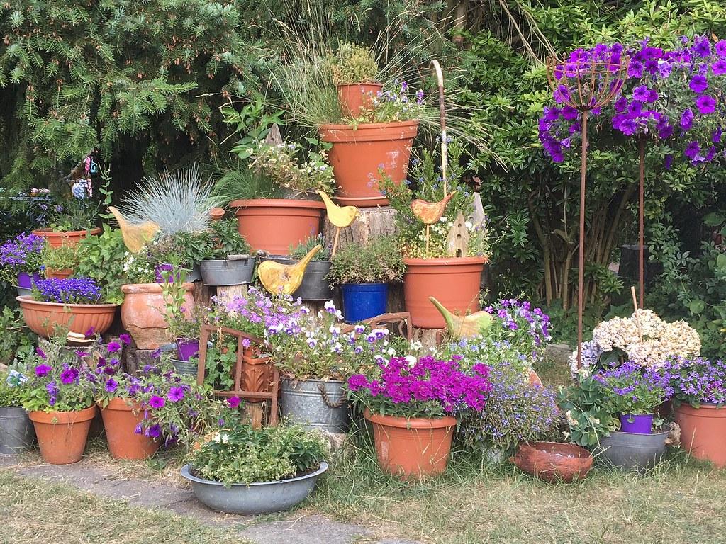 Viele Grüße Aus Wahlsdorf (Sockenhummel) Tags: Blumen Etagere Blumentöpfe  Pflanzen Garten Wahlsdorf Kreativbude