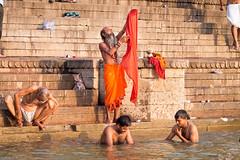 Early morning on Ghats..Varanasi..India (geolis06) Tags: geolis06 asia asie inde india uttarpradesh varanasi benares gange ganga ghat inde2017 olympus hindu hindou religieux religious sage sadhu banaras