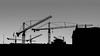 Skyline construction (PhredKH) Tags: canonphotography city cityscene cityview cityscape fredknoxhooke fredkh photosbyphredkh phredkh splendid stockholm sweden swedish travelphotography traveltostockholm traveltosweden sky cranes skyline blackandwhite blackandwhitephotography