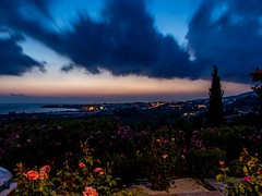 Blue Hour Cyprus Style (Mad Cow Imagery) Tags: canonefs18135mmf3556isstm canoneos80d mediterranean europe longexposure ocean water sea clouds trees flowers flower tree sunset sky peyia bluehour villaolivia coralbay paphos cyprus