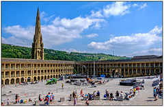 Lazing on a summer afternoon (Peter Leigh50) Tags: piece hall halifax yorkshire west fujifilm fuji xt2 sunshine sky building people