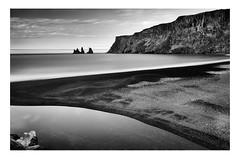 Reynisfjara black sand beach  | Vik (www.davidrosenphotography.com) Tags: reynisfjara reynisfjarabeach vik iceland seascape longexposure mono monochrome