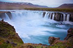 Blue Sanctuary (Summit View) Tags: waterfall water fall iceland island long nd filter ndfilter godafoss ice land blue drop falls d7100 nikon exposure longexposure ngc national geographic society nationalgeographicsociety sanctuary