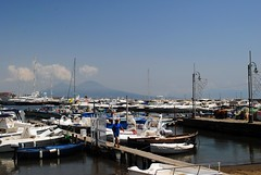Mergellina harbour and Vesuvius (zawtowers) Tags: naples napoli campania italy italia may 2018 summer holiday vacation break warm dry sunny thursday 31 mergellina harbour seaside water front idyllic calm peaceful looking east moored mount vesuvius