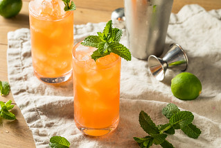 Sweet Tropical Zombie Cocktail with Rum