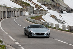 Rimac Concept One (Nico K. Photography) Tags: rimac concept one rare supercars silver snow rain nicokphotography switzerland grimselpass