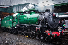 Vintage steam train at Central Railway Station, Sydney (Theresa Hall (teniche)) Tags: 2018 australia canberra central centralstation june2018 sydney teniche theresahall history pieceofhistory steamtrain train vintage vintagetrain vintagevehicles
