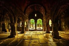 Golden Hall (stano szenczi) Tags: armenia sanahin monastery gavit hall gold column vault infinitexposure yellow arch arcade nave