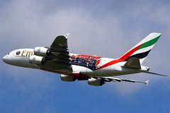 "Emirates Airbus A380-861 ""Paris Saint-Germain-PSG"" A6-EUB (Manuel Negrerie) Tags: emirates airbus a380861 parissaintgermainpsg a6eub football spotting cdg jetliner airliner skies a380 ek uae unitedarabemirates psg livery scheme aviation design transport travel"