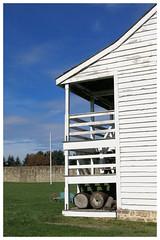 Fort Frederick SP ~ barracks (karma (Karen)) Tags: bigpool maryland fortfrederickstatepark mdstateparks barracks porches nrhp nhl fences hff cmwd walls hww