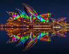 Colour Mirror (Jared Beaney) Tags: canon6d canon australia photography photographer travel sydney vividsydney 2018 night sydneyoperahouse operahouse projectionshow projections colour reflections reflection bluehour nsw newsouthwales