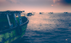The Voyage (Sumit K Pandit Photo) Tags: beauty nature horizon mode transportation nautical vessel no people orange color outdoors scenics sea ship sky sunset tranquil scene tranquility travel water waterfront