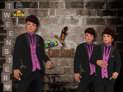 Bentley Tuxedo Wild Plum Poster (stephentryce) Tags: tux tuxedo suit boy boys kids tweenster smb standard avatar vitural sl secondlife formal wedding dancing party parties