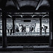 "Metropolitan Avenue Subway Station (soboy5) Tags: ""newyork"" 18mm explore candid subway platform brooklyn williamsburg mono monochrome bw nyc blackandwhite fuji newyorkcity streetphotography framing people trainstation xt1 fujifilm tracks traintracks"