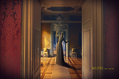 The apparition (olgavareli) Tags: olga vareli ghost apparition mansion legend dream vision dark devil black