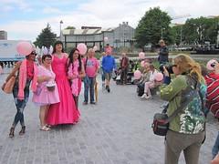Photo shoot (Paula Satijn) Tags: hot pink girl lady dress gown ballgown skirt fuchsia bight gurl tgirl satin silk silky shiny outside girly feminine elegant style happy joy smile happiness fun pinkmonday tilburg friends crowd public