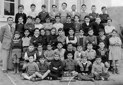Class photo (theirhistory) Tags: children kids boy group class form school teacher jumper shorts shoes jacket wellies boots