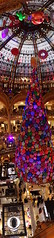 Christmas (Luxbao) Tags: christmas galeries lafayette paris haussmann balloons shopping luxury gifts france vertical panorama galerieslafayette store departmentstore decoration christmastree vitreaux colors