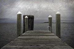 The Four Kings (delmarvajim) Tags: digitalart digitalprocessing digitaleffects fineart pier water bay clouds texture drama