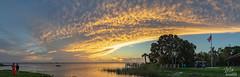 Sunset over Lake Washington - Panorama (Michael Seeley) Tags: canon clouds fl florida lake lakewashington landscape melbourne mikeseeley shoreline spacecoast sunset panorama