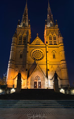 St Mary's Cathedral - Sydney NSW (StefanKleynhans) Tags: stmaryscathedral sydney nsw australia night light nikon1635f4 nikond7100