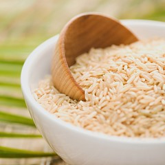 Stock Images (perfectionistreviews) Tags: asian bowl brownrice cuisine cup dish food grain healthylifestyle indoors ingredient inside nobody nutrition organic raw rice scoop selectivefocus square stilllife studio uncooked wood wooden color photograph foodanddrink